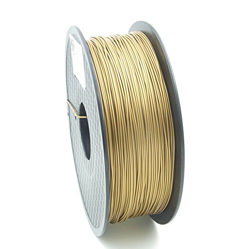 SIENOC 1 paquete de filamento impresora 3D ABS 1.75mm Impresora - Con 1 kg de carrete (Oro)