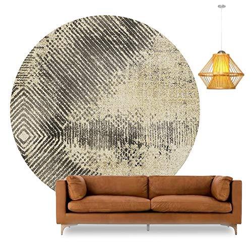 YJRBZ Creative Round Area Rug Living Room Carpet Fashion Home Circular Carpet Bedroom Bedside Blanket Rugs Corner Hanging Basket Recliner Mats (Size : Diameter 180cm)
