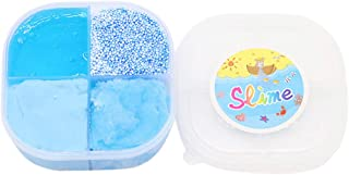 KINGOLDON 120ml Squishies Clay 4 Grid Cloud Slime Putty Scented Stress Kids Clay