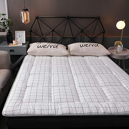 fgdjtyyj Almohadillas de colchón plegables gruesas, rollo de cama suave japonés, antideslizantes, agradable al tacto, alfombrilla de futón Tatami, 90 x 200 cm