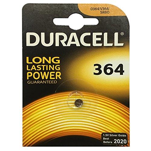 Duracell Knopfzelle Silberoxid Uhrenbatterien (SR621/D364/SR60)