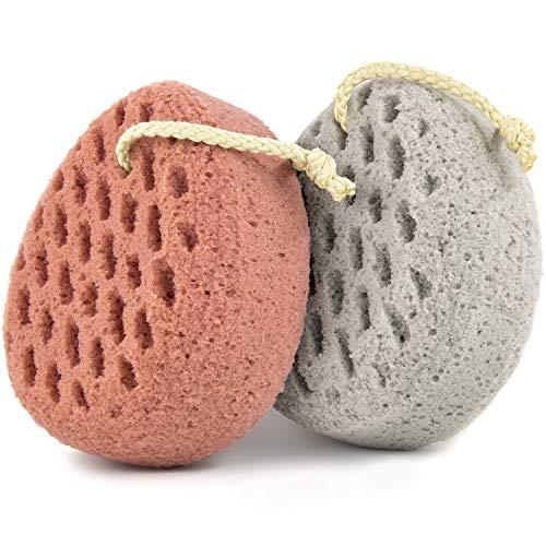 BAIMEI Bath Sponge, Sponge Loofah Body Scrubber, Shower Pouf Cleaning Loofahs Sponge, Shower Use Sponge (2pcs)