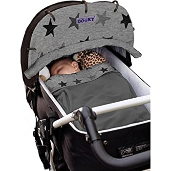 Creme White Original DOOKY ** Style UV+ 40 ** Dooky Design Universal Sun Shade // Cover Strollers Fit For Carriers Pushchairs etc.