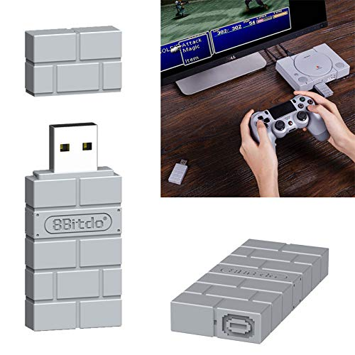 Rabusion Hot for Portable 8Bitdo USB Wireless Bluetooth Adapter Gamepad Receiver