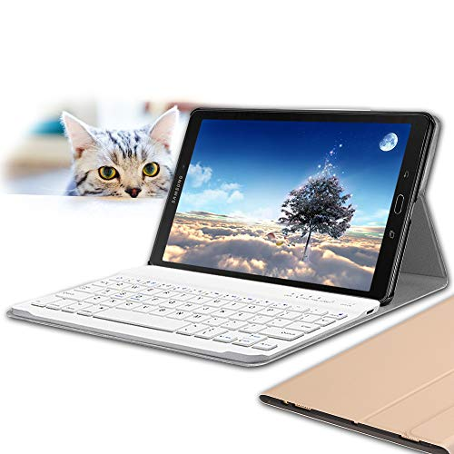 Wineecy Galaxy Tab A 10.1 2016 Teclado Funda(QWERTY), Funda de Cuero con Desmontable Inalámbrico Bluetooth Teclado para Samsung Galaxy Tab A 10.1