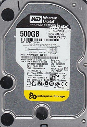 WD5002ABYS-02B1B0, DCM DANNNT2MAB, Western Digital 500GB SATA 3.5 Hard Drive