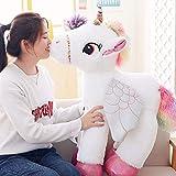 Haojie 120cm Grande Licorne Poupée Licorne en Peluche Petit Pegasus Poupée Poney en Peluche Fille Cadeau pour Enfants,Blanc,90cm