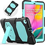 Funda para Samsung Galaxy Tab A 10.1 2019 (SM-T510/SM-T515), SEYMAC Heavy Duty Rugged Full Body a Prueba de Golpes con función Atril Integrado para Samsung Galaxy Tab A 10.1' (Azul Claro/Negro)