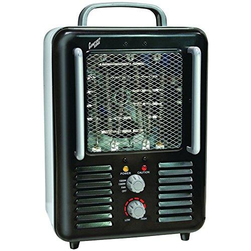 COMFORT ZONE CZ798BK Deluxe Milkhouse Heater/Fan Home, garden & living