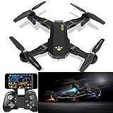 Visuo xs809hw RC Quadcopter WiFi FPV Drone, Drohne Gyro 2.4 G Höhe, Halt [RC Drohnen mit 2.0 MP 720P HD Kamera], Selfie faltbar RC Quadcopter mit Höhe Halt [einfach zu fliegen für...