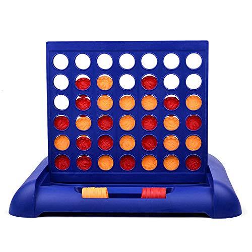 Lixada Juego Niños Familias Fiestas 4 en Una Fila Bingo Juegos de Mesa Entretenimiento para Mayores