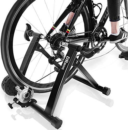 N\B Soporte de entrenamiento para bicicleta – Portable de acero inoxidable para entrenamiento en interiores, rueda de inercia magnética, resistencia para bicicletas de carretera y de montaña