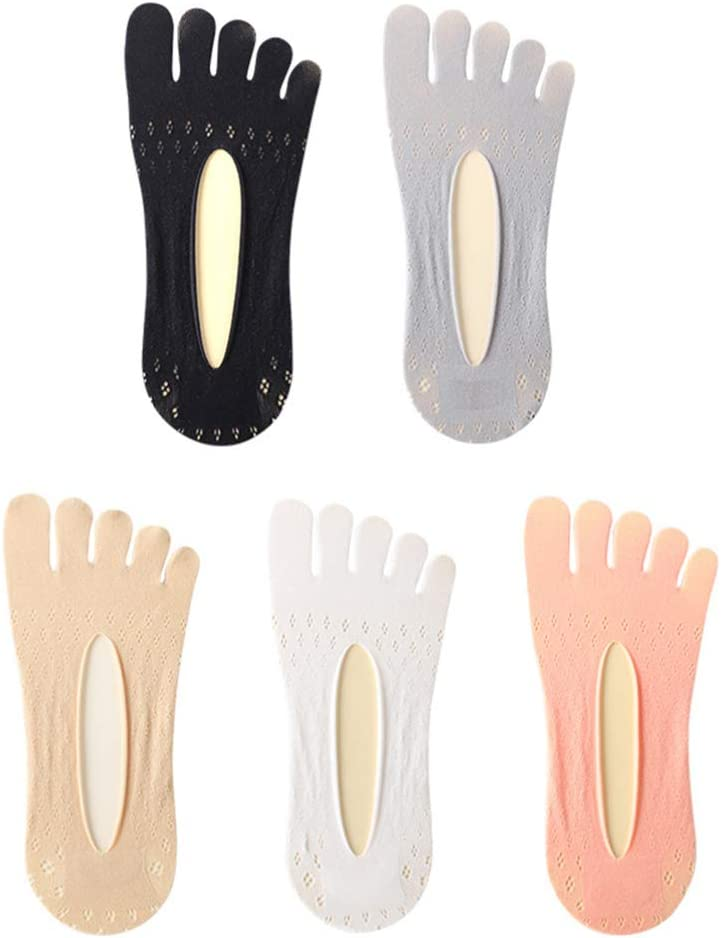 EXCEART 5Pairs Five Direct stock discount Popular product Finger Socks Breathable Cut Low Color