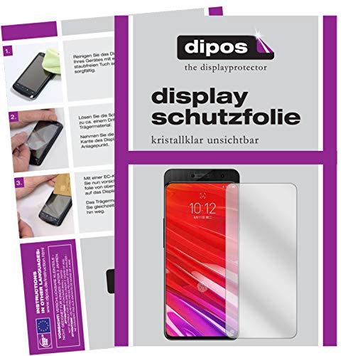 dipos I 6x Screen Protector compatible with Lenovo Z5 Pro GT Protection Films clear
