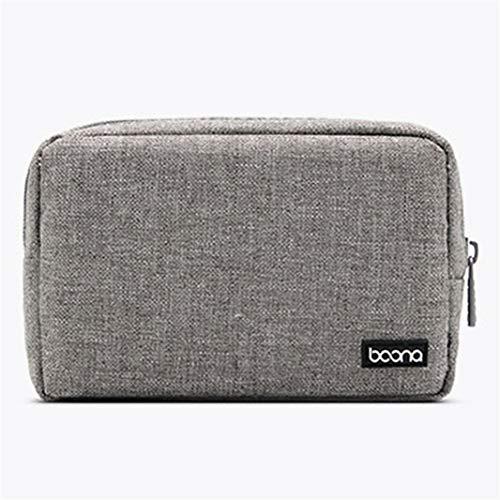 #N/A - Borsa organizer digitale per accessori, portatile, digitale, leggera, con divisorio a rete, colore: grigio