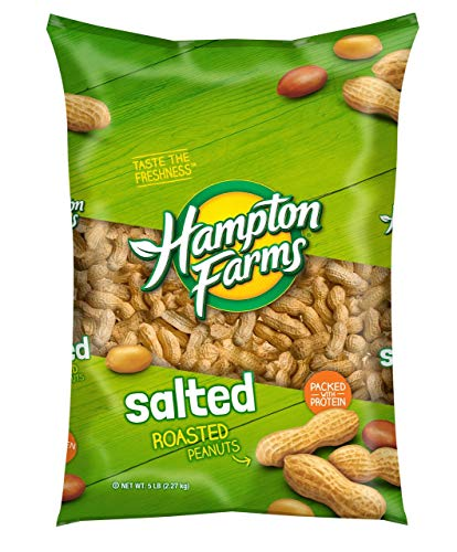 Hampton Farms Salted Roasted In-Shell Peanuts, 5 lbs. [Biz Discount]