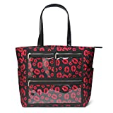 Essential Oils Tote Oversized Red lips sense Weekend Daily Canvas WOW Bag Display Windows (PVC pockets)