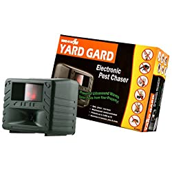 powerful Electronic animal protection from Bird-X Yard Gard protects your yard from unwanted pests …