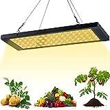 GUOYULIN Panel Lámpara de Planta, LED Lámpara de Crecimiento, 100 W, 75 Leds, Lámpara Cultivo LED Espectro Completo para Hidropónico, Vegetales, Plántulas y Flores