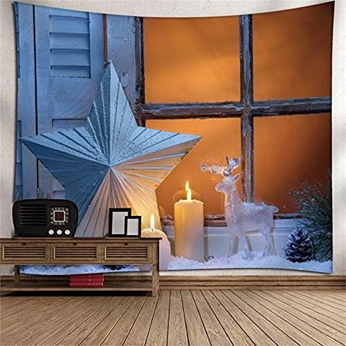 YYRAIN Impresión 3D Poliéster Impresión Navidad Patrón Tapiz Sala De Estar Dormitorio Pasillo Pared Decoración De Fondo 59x39 Inch {150x100cm}