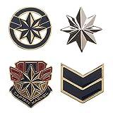 Marvel Accessories Captain Marvel Lapel Pin Set - 4-Pack