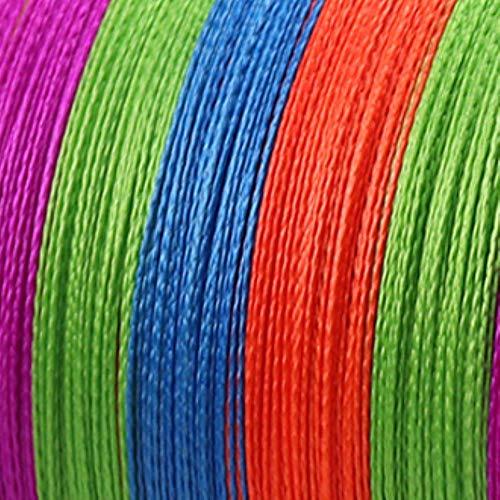 NIEUWE Lokken lijn Weefnet 300M 500M 1000M Multicolour PE Gevlochten Draad 4 Strengen Multifilament Japanse Vislijn