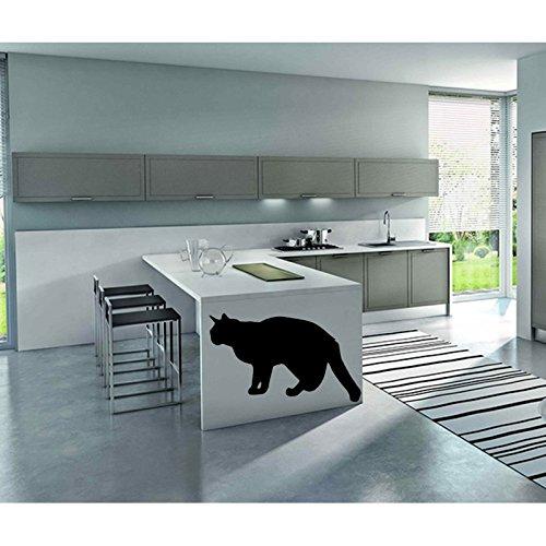 TATOUTEX Stickersnews - Adesivi a Forma di Gatto, 135 x 90 cm, Colore: Nero