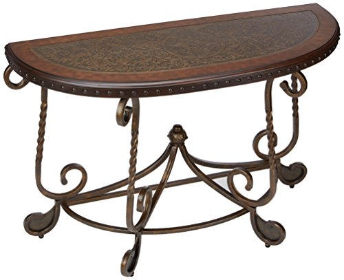 Signature Design by Ashley Right Arm Facing Rafferty Sofa Table, Dark Brown