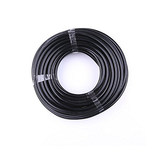 Paor 10 Meter schwarzer Mikro-Bewässerungsschlauch, Innendurchmesser 4 mm / Außendurchmesser 6 mm für Gartenbewässerung