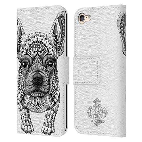 Head Case Designs Officially Licensed Bioworkz Frenchie Canine Leather Book Wallet Case Cover Compatible with Apple Touch 6th Gen/Touch 7th Gen
