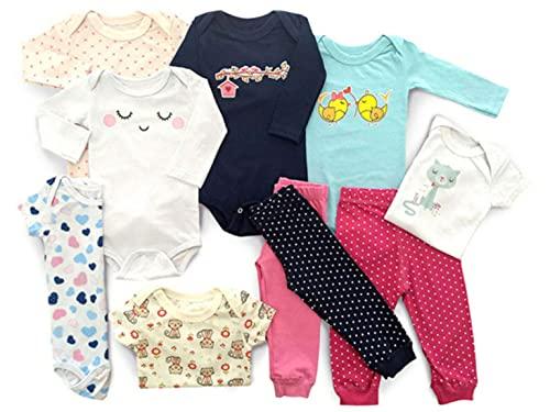 Kit 12 Pçs Maternidade Roupa De Bebê Meninas Tamanho:G