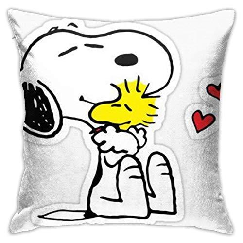 pingshang Hug Peanuts in Love - Funda de cojín (18 x 18 cm)