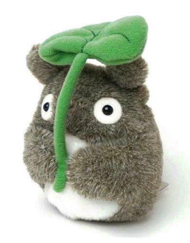 Mein Nachbar Totoro (Ghibli) Kuscheltier / Stofftier / Plüsch Figur: Totoro mit Blatt 13 cm