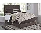 Signature Design by Ashley Dolante Brown Queen Upholstered Bed (Queen, Brown)