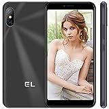 Teléfono Móvil Libre, EL 6C Smartphones Libre 4G, 16GB ROM(128GB SD) 5.5' Pantalla HD Smartphone Barato, Dual SIM, Cámara Triple, Android 8.1, 2500mAh, GPS/WiFi Face ID-Negro