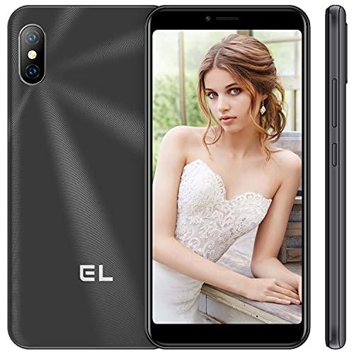 Smartphone Offerta del Giorno 4G, EL 6C Telefoni Cellulari Economici, 128GB Espandibili Cellulare, 5,5'' HD 1GB RAM 16GB ROM,Fotocamera 8MP+2MP+5MP, Sblocco Viso,Dual SIM Android Mobile Phone-Nero