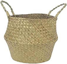TOPofly Algues Tissage Basket, outils Natural Woven Basket stockage Lavanderia Hamper Jouets Fruit Bag Motif Fruit Basket ...