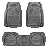 FH Group F11323GRAY Floor Mat (Supreme Rubber Trimmable for Cars, SUVs, and Trucks), 1 Pack