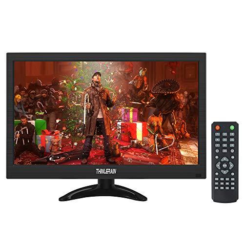 13,3 Pollici CCTV Monitor Portatile 1366 x 768 schermo LED Mini Monitor con HDMI/VGA/BNC/AV/altoparlanti/VESA per Raspberry Pi, PC, PS3 / PS4, CCTV Security Camera, Thinlerain