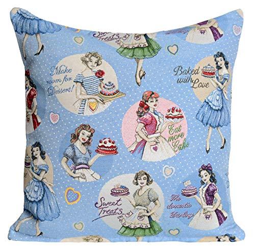 Amber Textile Tapisserie-Kissenbezüge, Dekorative Kissenbezüge, Kissenbezüge für Sofa, Couch.45,7 x 45,7 cm Barbies
