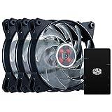Cooler Master MasterFan Pro 120 Air Balance RGB Pack Pack de Ventilateurs de boîtier 'RGB Fan Controller, 3x MasterFan Pro 120 AB Fans,  Compatibilité de plusieurs cartes mères' MFY-B2DC-133PC-R1