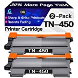 Go4max Compatible 2-Pack TN450 TN-450 TN420 TN-420 Toner Cartridges for Brother DCP-7060D DCP-7065DN HL-2270DW HL-2275DW HL-2240D MFC-7365DN Printer (High Yield, Black)