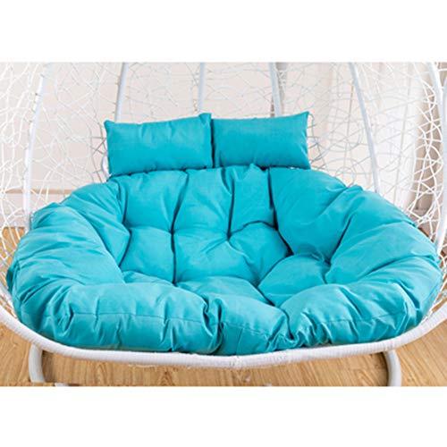 Cojín de silla colgante grueso para silla mecedora cojín asiento oscilante cómodo nido hamaca columpio silla cojín para 1 2 plazas (azul)