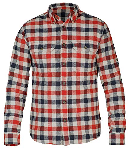 Photo of Fjallraven Men's Skog Shirt Long Sleeved T, Red, L