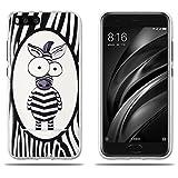 FUBAODA Funda para Xiaomi Mi6, Simpático Cebra de Dibujos Animados, Carcasa Gel de TPU Silicona Carcasa para para Xiaomi Mi6 5.15'