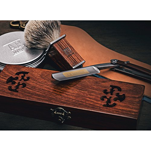 A.P. Donovan - Excellent 7/8' Straight razor Set - cut throat incl. Brush,...