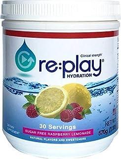 Re:Play Hydration Recovery Drink Powder, Sugar Free Raspberry Lemonade - 570g tub, 30 Servings
