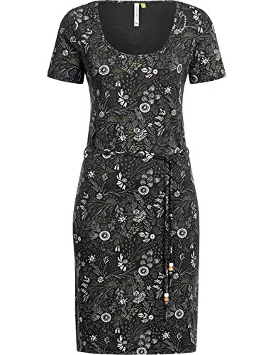 Ragwear Damen Kleid Dress Sommerkleid Strandkleid Jerseykleid Freizeitkleid Peliada Organic Schwarz Gr. S
