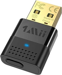1mii Bluetooth USB PC, Transmisor Audio Bluetooth 5.0, Dongle Bluetooth para PC, PS4 con APTX Baja Latencia y APTX HD, Adaptador de Audio USB de Doble Enlace a Altavoz/Auriculares Bluetooth