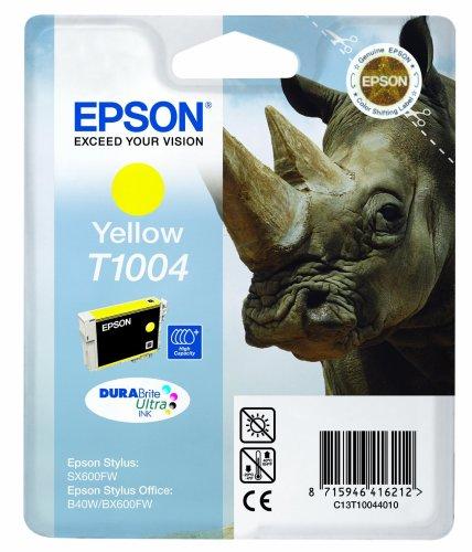 Epson T1004 Yellow Ink Cartridge for SX600FW, B40W/BX600FW, Genuine, Amazon Dash Replenishment Ready